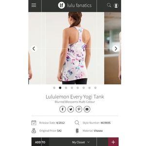 lululemon athletica Tops - Lululemon Tank